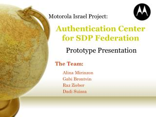 Authentication Center for SDP Federation