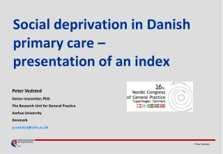 Social deprivation in Danish primary care –  presentation of an index