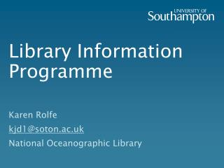 Library Information Programme