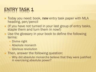 Entry Task 1
