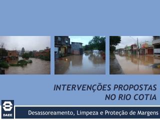 Intervenções propostas no rio cotia