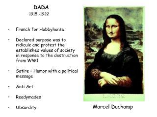 DADA  1915 -1922