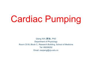 Cardiac Pumping