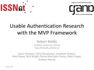 Usable Authentication Research with the MVP Framework