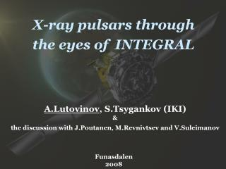 X-ray pulsars through  the eyes of  INTEGRAL