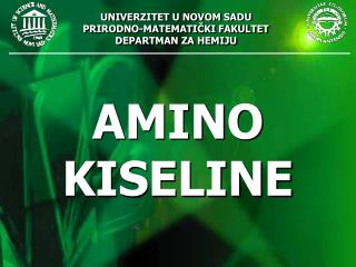 AMINO  KISELINE