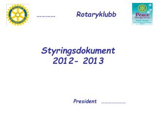 Styringsdokument 2012- 2013