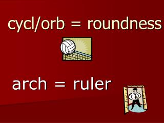cycl/orb = roundness