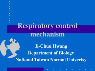 Respiratory control mechanism