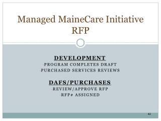 Managed  MaineCare  Initiative RFP