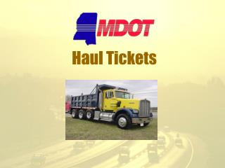 Haul Tickets