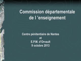 Commission départementale de l'enseignement