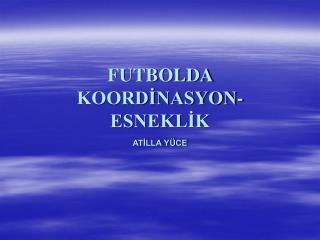 FUTBOLDA  KOORDİNASYON-ESNEKLİK