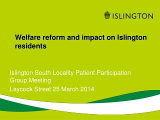 Welfare reform and impact on Islington residents