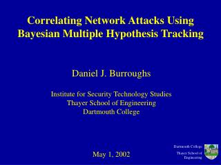 Correlating Network Attacks Using Bayesian Multiple Hypothesis Tracking