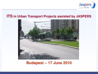 ITS  in Urban Transport Projects assisted by JASPERS