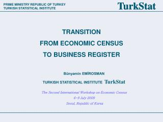 TRANSITION FROM ECONOMIC CENSUS TO BUSINESS REGISTER