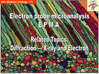 Diffraction:  Electron and X-ray