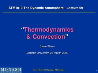 ATM1010 The Dynamic Atmosphere - Lecture 09