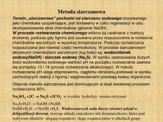 Metoda siarczanowa