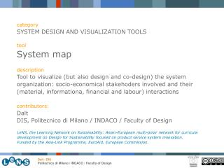 category SYSTEM DESIGN AND VISUALIZATION TOOLS tool System map description