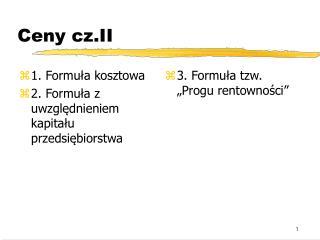Ceny cz.II