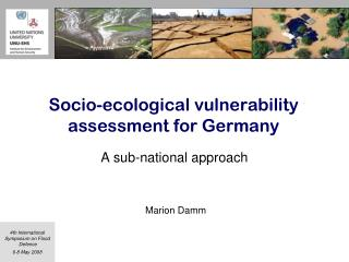 Socio-ecological vulnerability  assessment for Germany