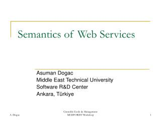Semantics of Web Services
