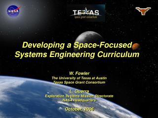 Developing a Space-Focused Systems Engineering Curriculum