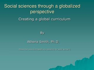 Social sciences through a globalized perspective