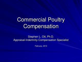 Commercial Poultry  Compensation