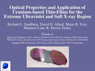 BYU EUV Optics