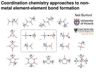 Coordination chemistry approaches to non-metal element-element bond formation