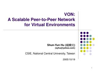 VON: A Scalable Peer-to-Peer Network for Virtual Environments