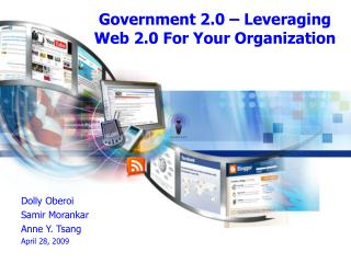 Government 2.0 – Leveraging Web 2.0 For Your Organization