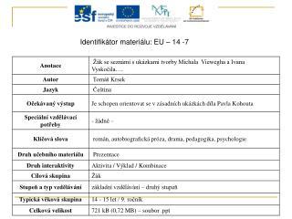 Identifikátor materiálu: EU – 14 -7
