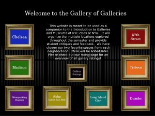 Welcome to the Gallery of Galleries
