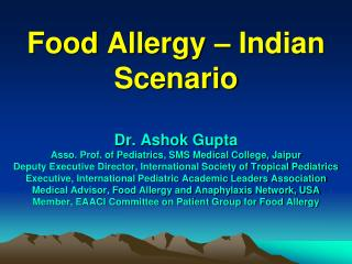 Food Allergy – Indian Scenario