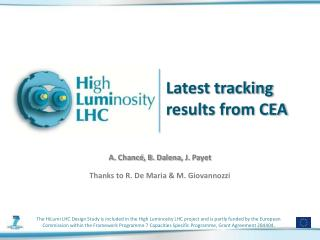 Latest tracking results from CEA