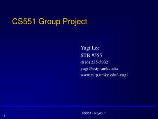 CS551 Group Project