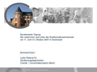 Bundesweite Tagung der Leiterinnen und Leiter der Studierendensekretariate