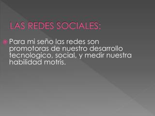 LAS REDES SOCIALES: