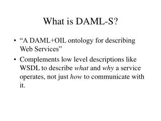 What is DAML-S?