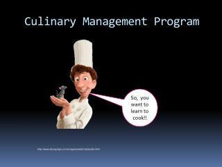 Culinary Management Program