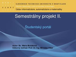 Semestr álny projekt II.
