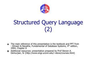 Structured Query Language (2)