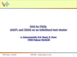 DAQ for FAIR:  uDAPL and XDAQ on an InfiniBand test cluster