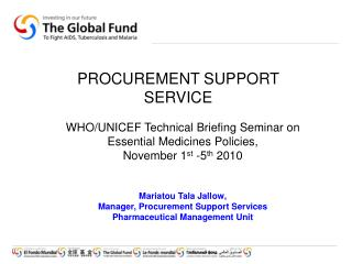 PROCUREMENT SUPPORT SERVICE