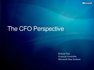 The CFO Perspective