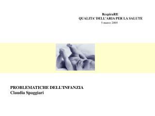 RespiraRE QUALITA' DELL'ARIA PER LA SALUTE 5 marzo 2005
